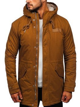 Men's Winter Parka Jacket Camel Bolf EX838
