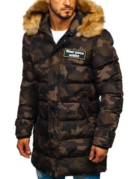 Men's Winter Parka Jacket Camo-Brown Bolf 5970M
