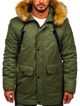Men's Winter Parka Jacket Green Bolf 1791
