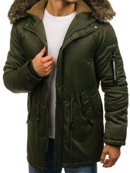 Men's Winter Parka Jacket Green Bolf R52