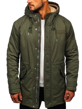 Men's Winter Parka Jacket Khaki Bolf EX838