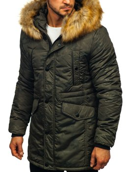 Men's Winter Parka Jacket Khaki Bolf JK339
