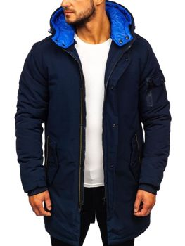 Men's Winter Parka Jacket Navy Blue Bolf 5841
