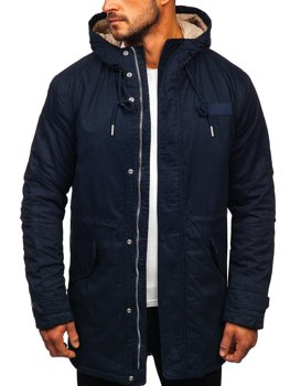 Men's Winter Parka Jacket Navy Blue Bolf EX838