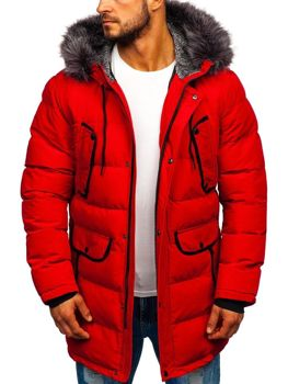 Men's Winter Parka Jacket Red Bolf 1091