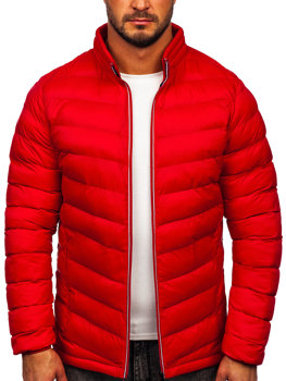 Men's Winter Quilted Sport Jacket Red Bolf 1100