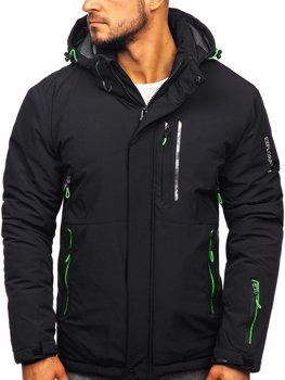 Men's Winter Ski Jacket Black-Green Bolf 1910