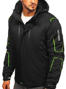Men's Winter Ski Jacket Black-Green  Bolf A5625