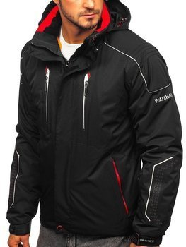 Men's Winter Ski Jacket Black-Red Bolf A5624