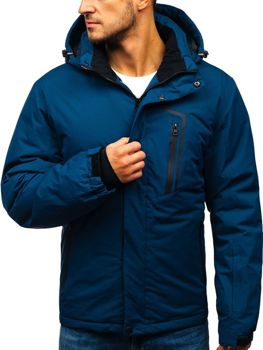 Men's Winter Ski Jacket Navy Blue Bolf HZ8107
