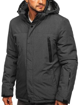 Men's Winter Ski Sport Jacket Graphite Bolf 9801