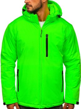 Men's Winter Sport Ski Jacket Green-Neon Bolf HH011