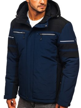 Men's Winter Sport Ski Jacket Navy Blue Bolf BK114