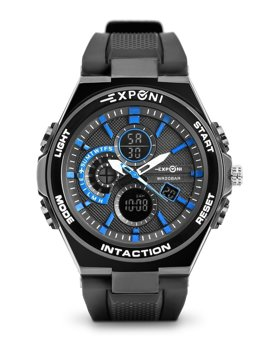Men's Wristwatch Black-Blue Bolf 3285