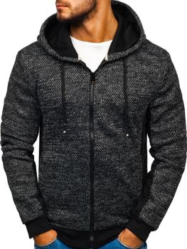 Men's Zip Hoodie Black Bolf KS1932
