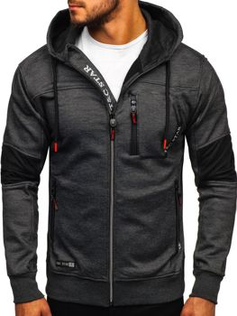 Men's Zip Hoodie Black Bolf TC869