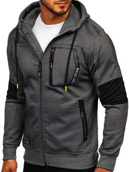 Men's Zip Hoodie Graphite Bolf TC869