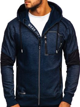 Men's Zip Hoodie Navy Blue Bolf TC869