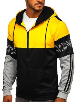 Men's Zip Hoodie Yellow-Black Bolf HY752