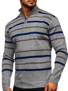 Men's Zip Jumper Grey Bolf W05