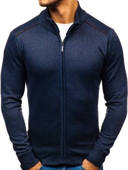 Men's Zip Jumper Navy Blue Bolf BM6077