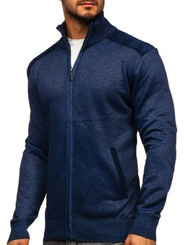 Men's Zip Stand up Sweater Blue Bolf H2057