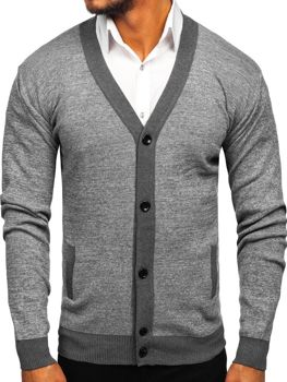 Men's Zip Sweater Grey Bolf 8122