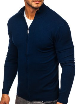 Men's Zip Sweater Navy Blue Bolf YY07
