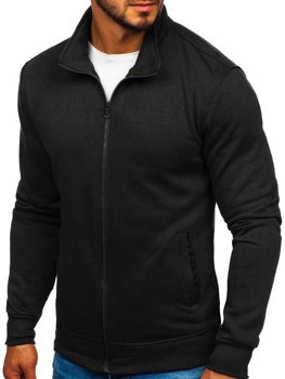 Men's Zip Sweatshirt Black Bolf B002