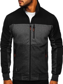 Men's Zip Sweatshirt Black Bolf TC1059