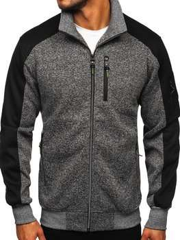Men's Zip Sweatshirt Graphite Bolf TC973