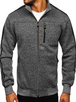 Men's Zip Sweatshirt Graphite Bolf TC977