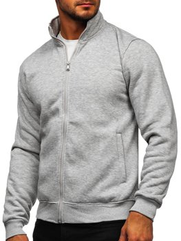 Men's Zip Sweatshirt Grey Bolf B002