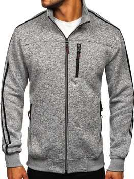 Men's Zip Sweatshirt Grey Bolf TC977