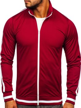 Men's Zip Sweatshirt Retro Style Claret Bolf 2126