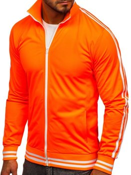 Men's Zip Sweatshirt Retro Style Orange Bolf 11113