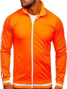 Men's Zip Sweatshirt Retro Style Orange Bolf 2126