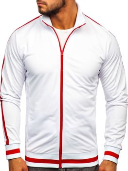 Men's Zip Sweatshirt Retro Style White Bolf 2126
