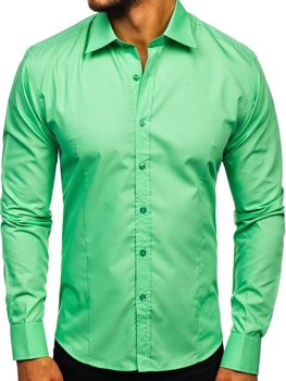 Mint Men's Elegant Long Sleeve Shirt Bolf 1703