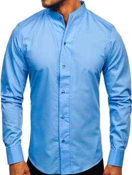 Sky Blue Men's Long Sleeve Shirt Bolf 5702