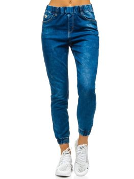 Women's Denim Joggers Navy Blue Bolf SJ101