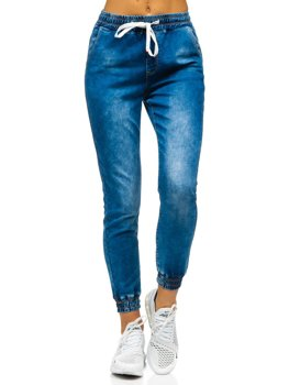 Women's Denim Joggers Navy Blue Bolf SJ102