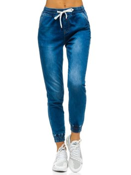 Women's Denim Joggers Navy Blue Bolf SJ105