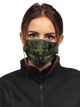 Women's Double-layered Reusable Protective Face Mask Khaki Bolf 001