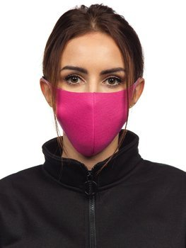 Women's Double-layered Reusable Protective Face Mask Pink Bolf 004