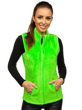 Women's Fleece Gilet Green-Neon Bolf HH003