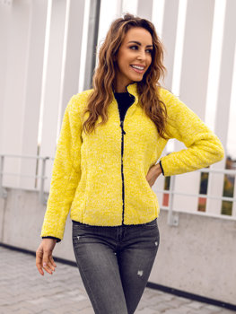 Women's Fleece Hoodie Yellow Bolf HH009