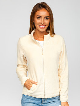 Women's Fleece Sweatshirt Beige Bolf HH001