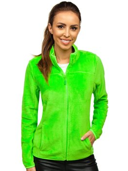 Women's Fleece Sweatshirt Green-Neon Bolf HH001
