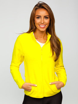 Women's Fleece Sweatshirt Yellow Bolf HH001